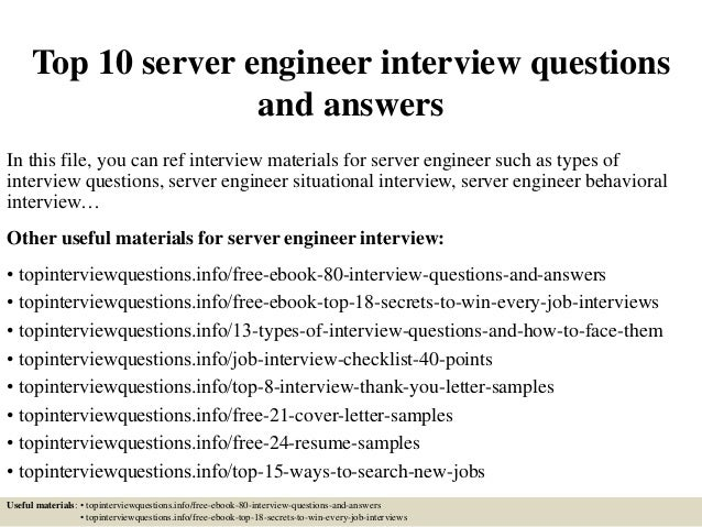 typical server interview questions