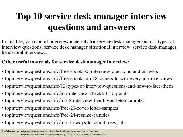 service desk resumes