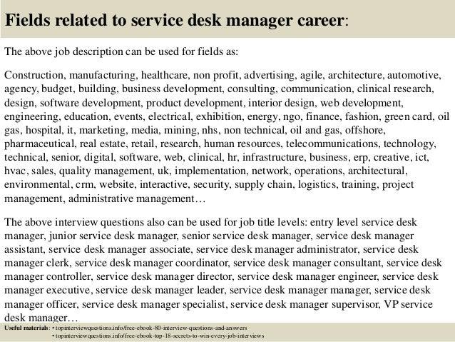 help desk manager job description - Juve.cenitdelacabrera.co