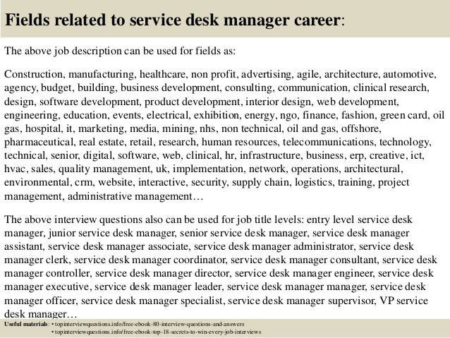 Top 10 Service Desk Manager Interview Questions And Answers
