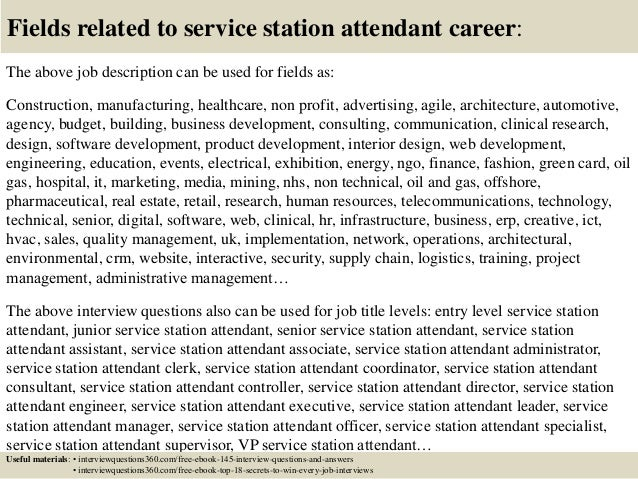 ... 18. Fields Related To Service Station Attendant ...
