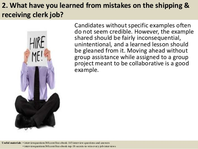 Top 10 shipping receiving clerk interview questions and answers – Shipping and Receiving Job Description