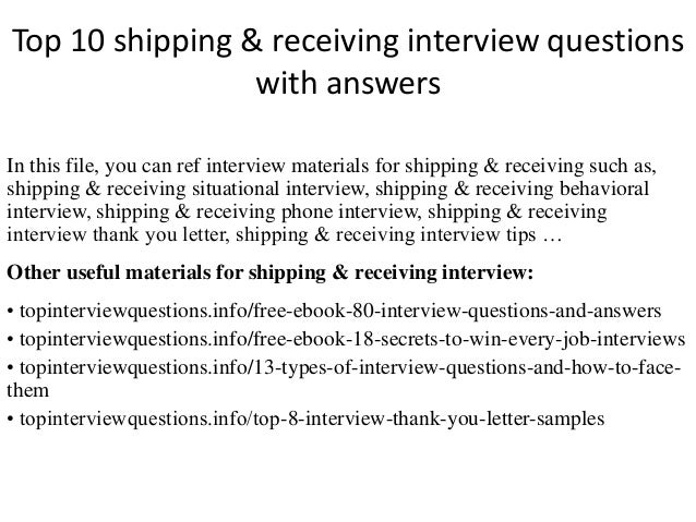 Top 10 shipping receiving interview questions with answers top 10 shipping receiving interview questions with answers in this file fandeluxe Images
