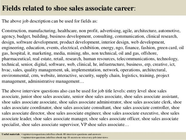 Top  Shoe Sales Associate Interview Questions And Answers