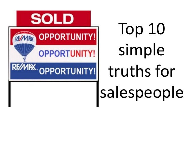 Top 10 simple truths for salespeople