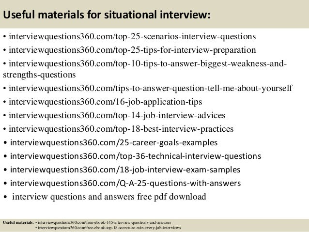 situational questions and answers