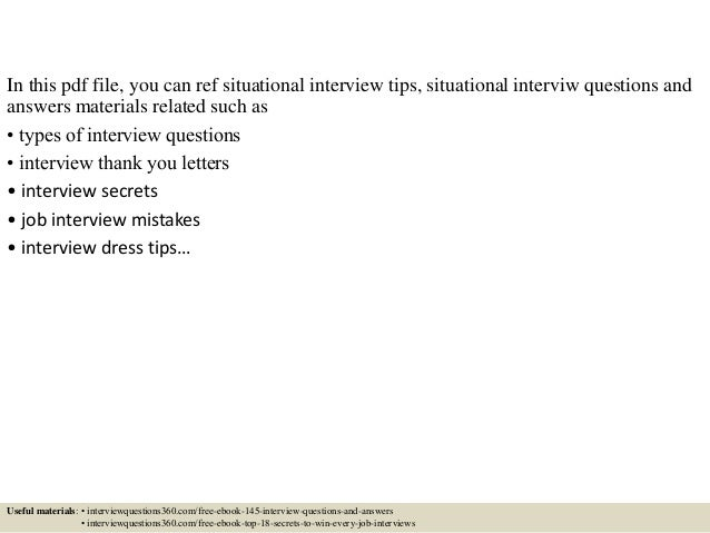 situational behavioral interview questions youtube