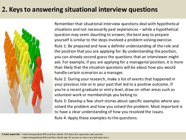 interview situational questions and answers