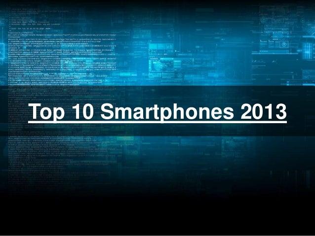 Top 10 Smartphones 2013