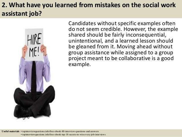 Social work case studies for interview
