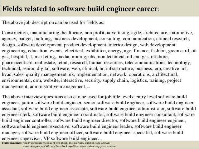 Top  Software Build Engineer Interview Questions And Answers