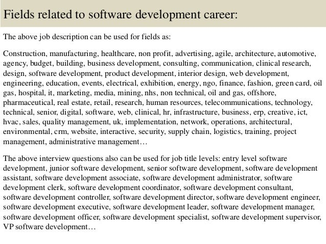 Top 10 software development interview questions and answers