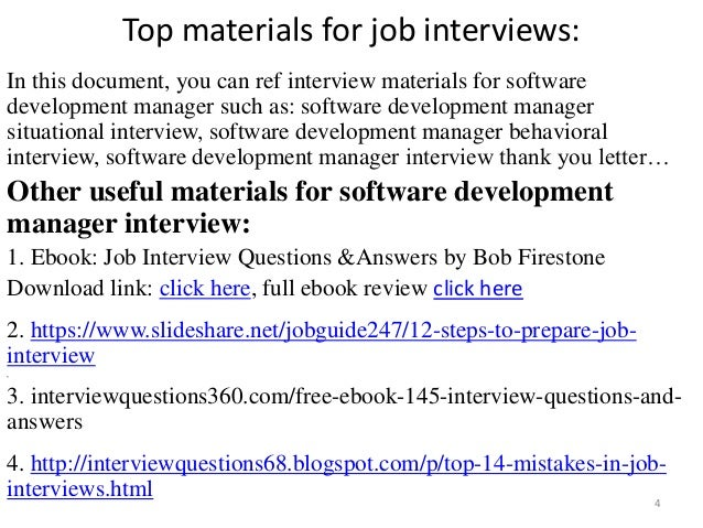 Top 36 software development manager interview questions and answers