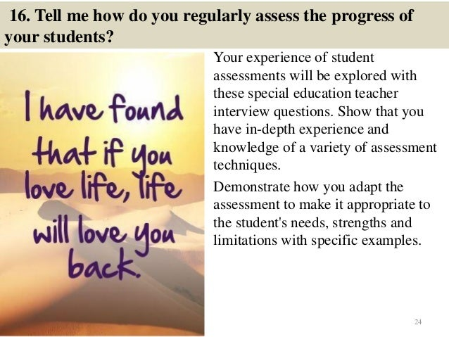 101 special education interview questions and answers
