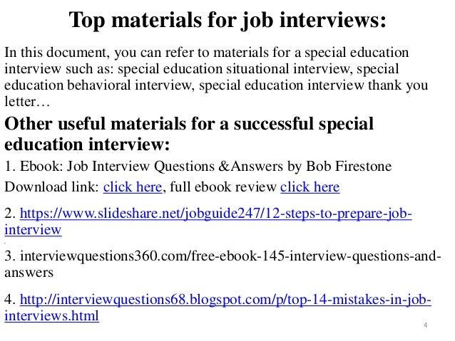 standard behavioral interview questions