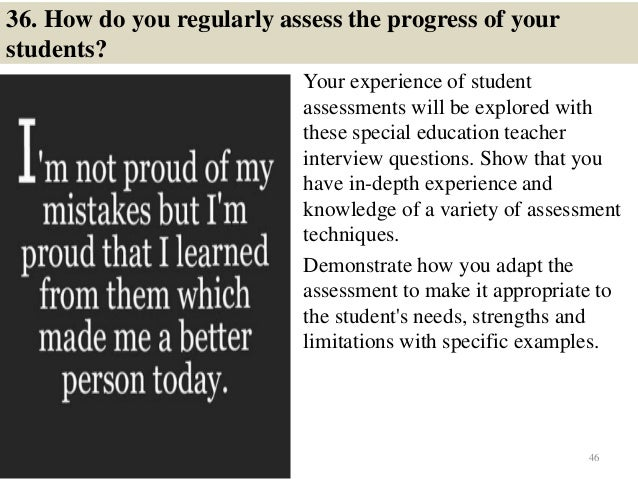 see these sample questions and answers to prepare for special