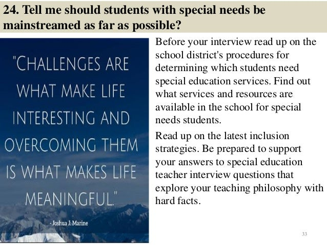 Top 36 special education interview questions with answers pdf