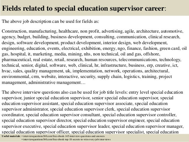 special education director interview questions