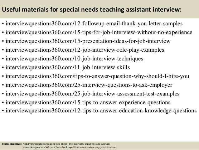 Top 10 special needs teaching assistant interview questions and answe – Boyfriend Thank You Letter Sample