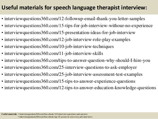 Top 10 Speech Language Therapist Interview Questions And Answers