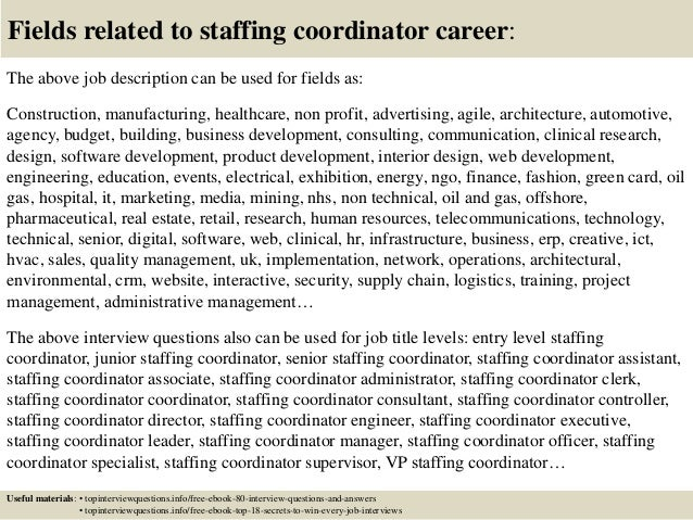 17 fields related to staffing coordinator event coordinator resume example