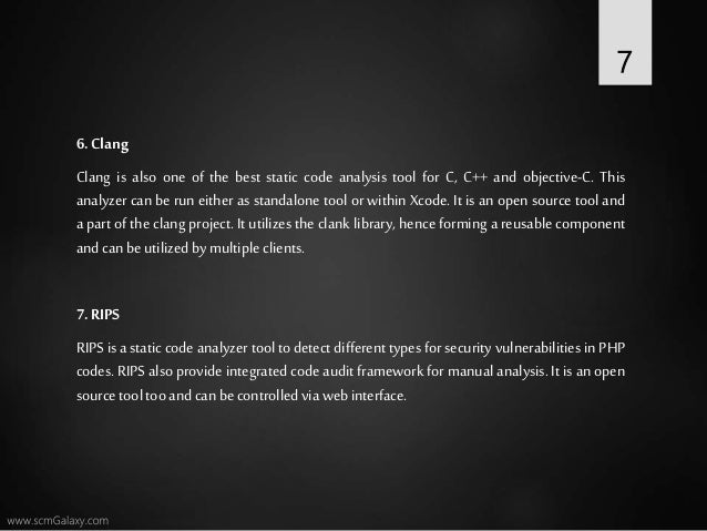 Top 10 static code analysis tool