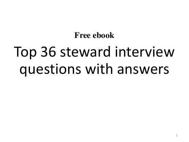 Free Ebook Top 36 Steward Interview Questions With Answers 1 ...
