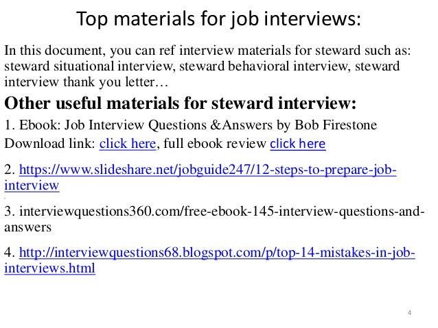 ... Steward Interview; 4.
