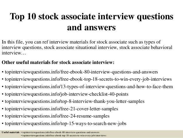 TopStockAssociate InterviewQuestionsAndAnswersJpgCb