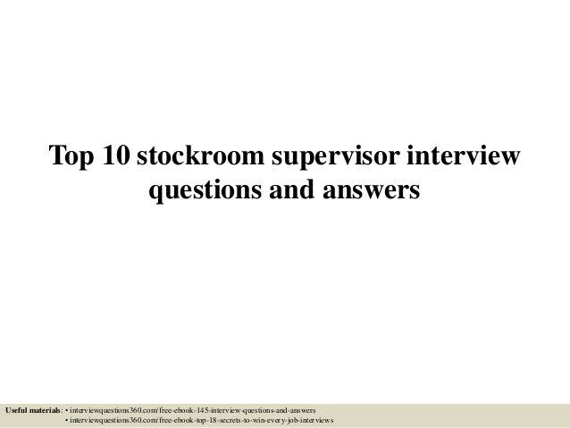 supervisor interview