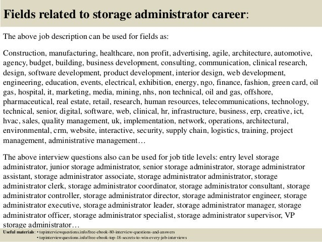 ... 17. Fields Related To Storage Administrator ...