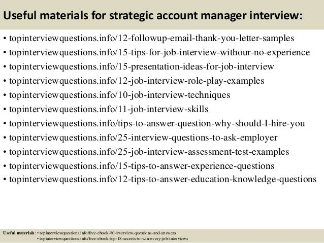 sales account manager interview questions
