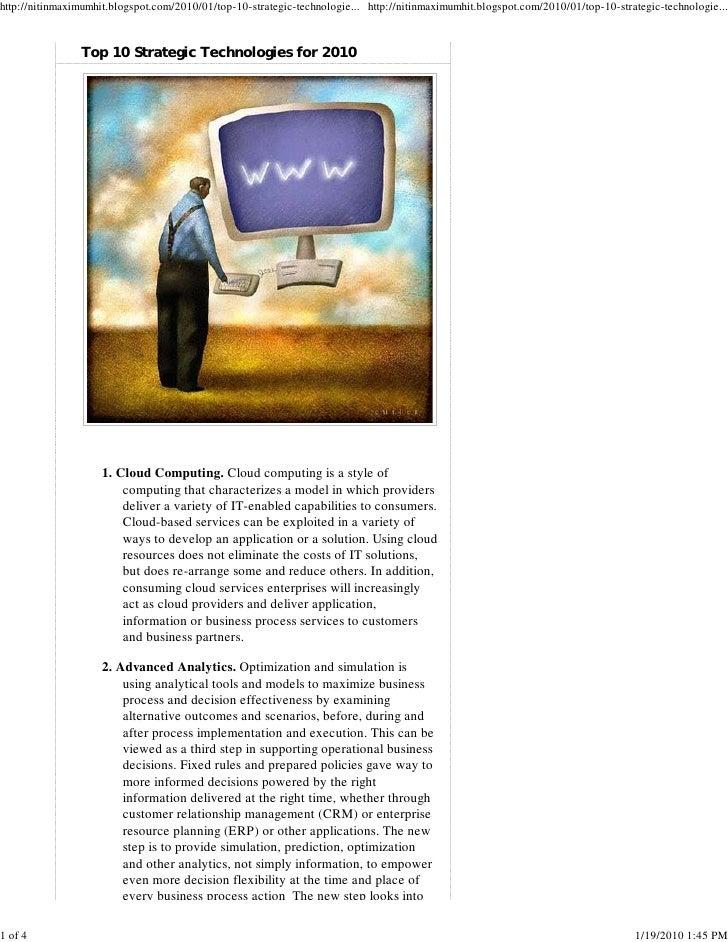 http://nitinmaximumhit.blogspot.com/2010/01/top-10-strategic-technologie... http://nitinmaximumhit.blogspot.com/2010/01/to...