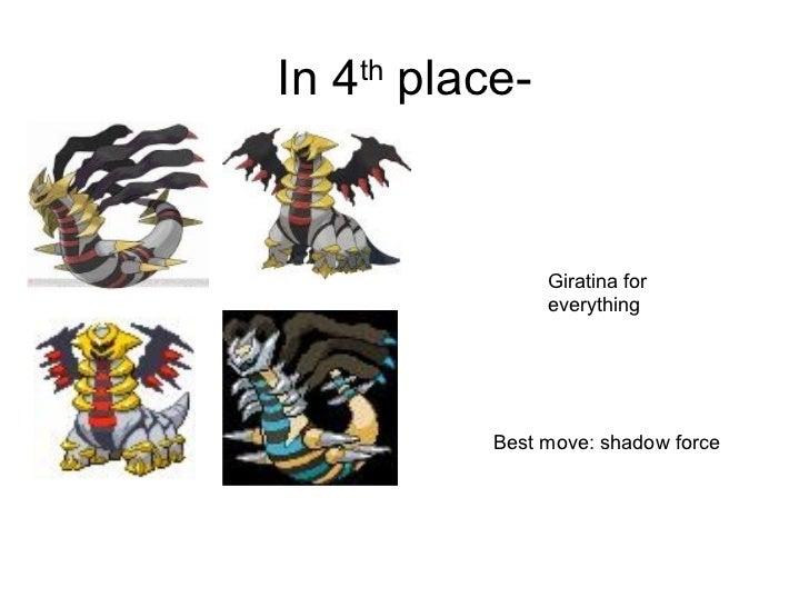 top vier pokemon