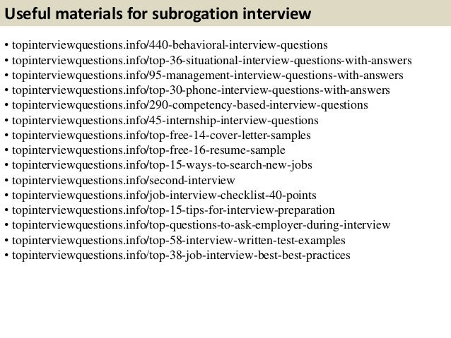 Charming 11. Useful Materials For Subrogation ...