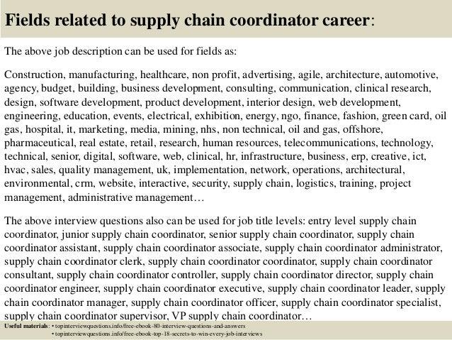 supply chain job description