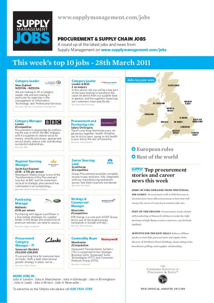 Top 10 supply chain jobs 28 march 2011