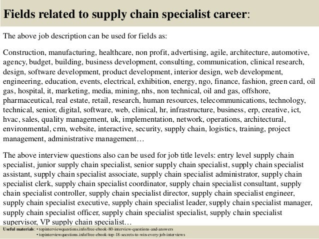 Top 10 Supply Chain Specialist Interview Questions And Answers