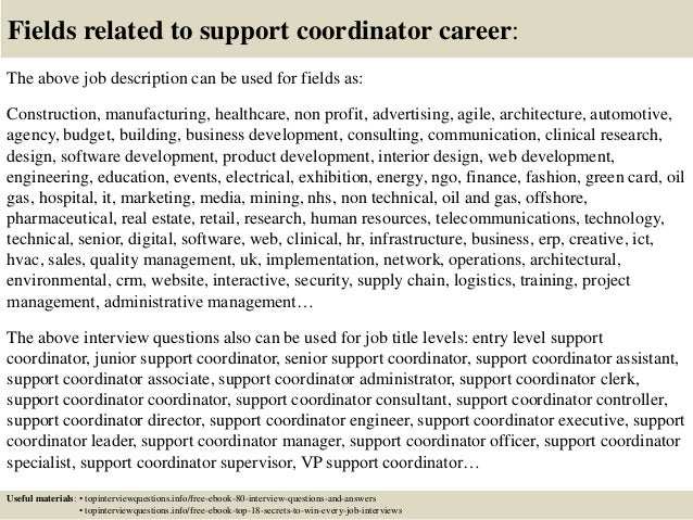 Support Coordinator Job Description | Top 10 Support Coordinator Interview Questions And Answers