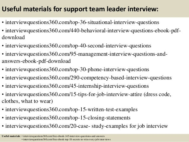 team leader interview questions and answers pdf Parlobuenacocinaco