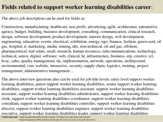 top  support worker learning disabilities interview questions