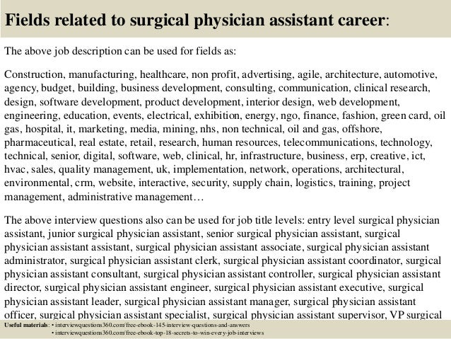 Top 10 surgical physician assistant interview questions and ...