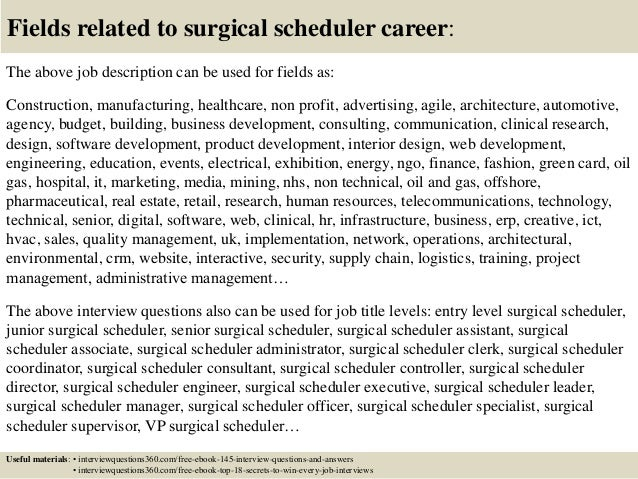 Top 10 Surgical Scheduler Interview Questions And Answers