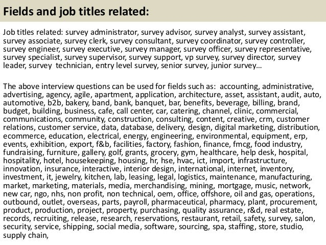 top 10 survey interview questions with answers