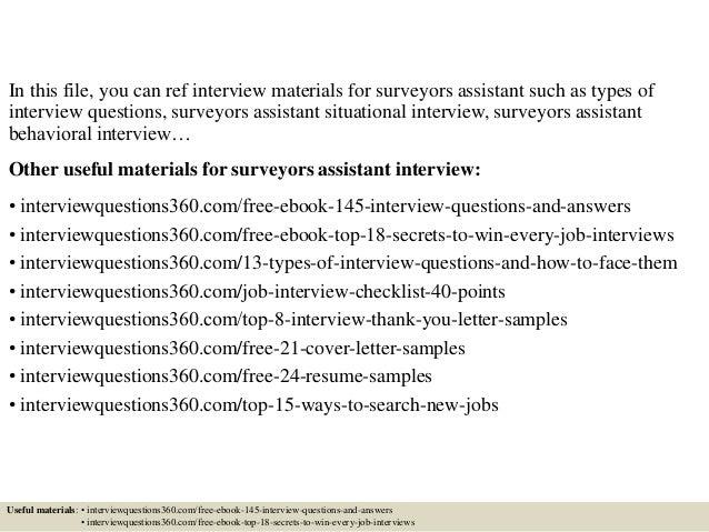 Survey Assistant Cover Letter