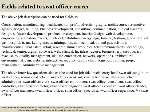top 10 swat officer interview questions and answers
