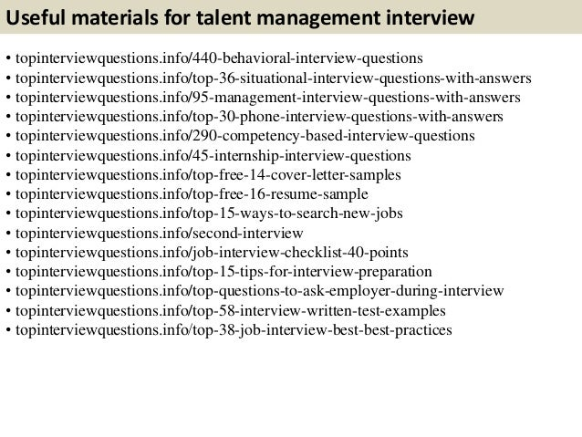 top 10 talent management interview questions with answers. Black Bedroom Furniture Sets. Home Design Ideas
