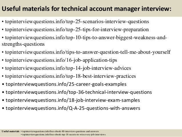 Top  Technical Account Manager Interview Questions And Answers