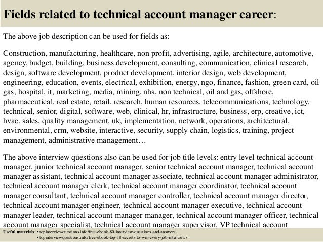 top  technical account manager interview questions  answers