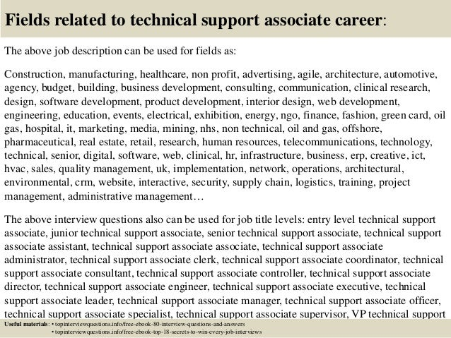 Top 10 technical support associate interview questions and answers